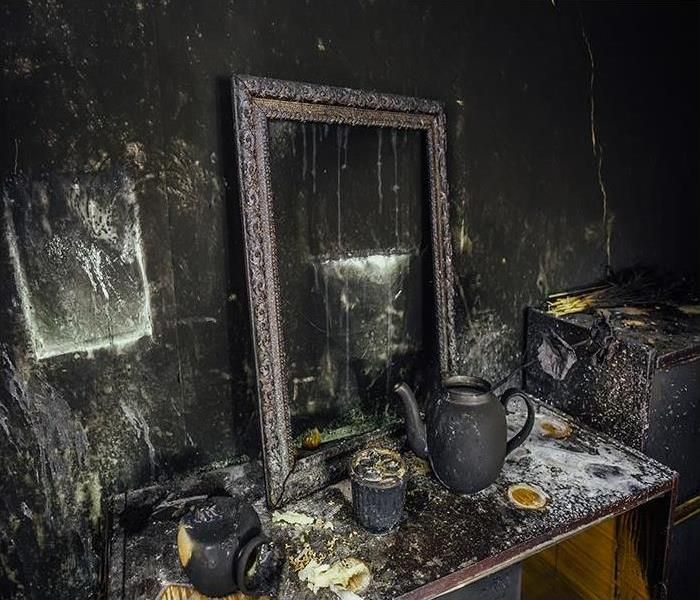 soot damaged property